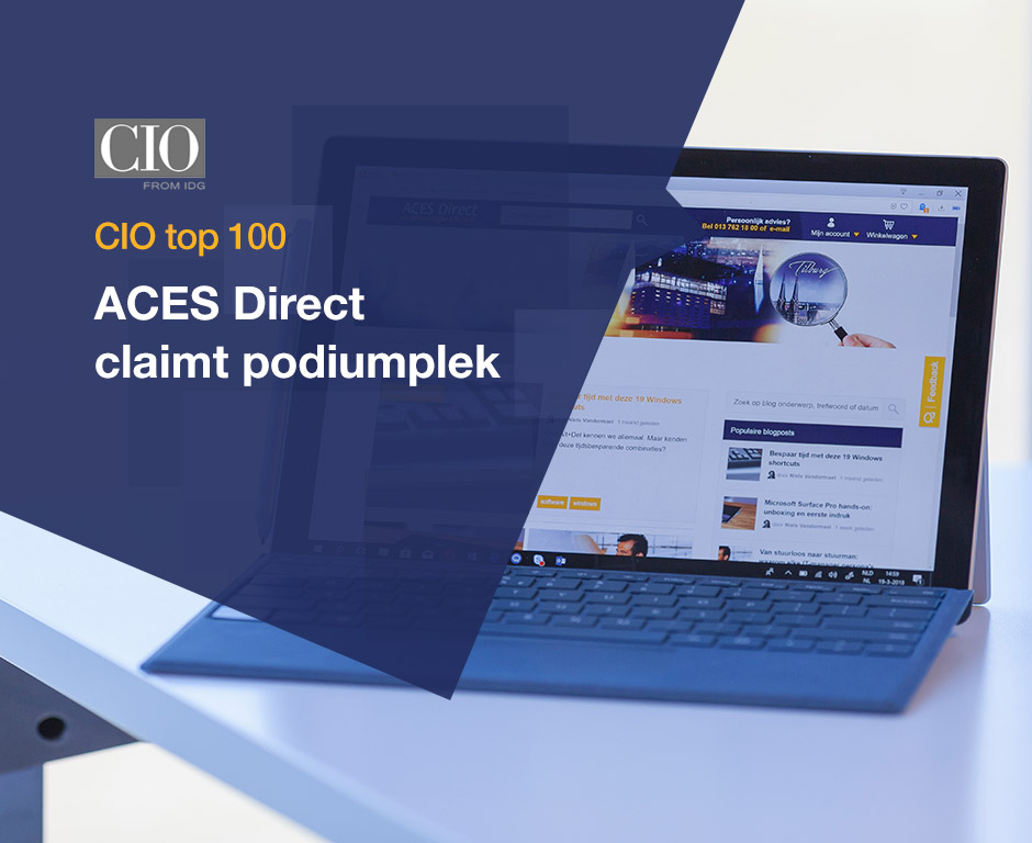 Podiumplek ACES Direct in CIO top 100 beste IT resellers